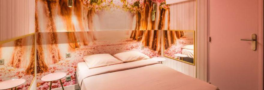Chambre d'hotel du Love Hotel à Paris